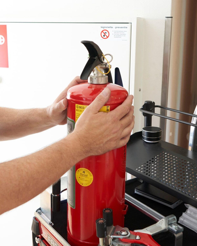 Brandblusser controle veiligheid