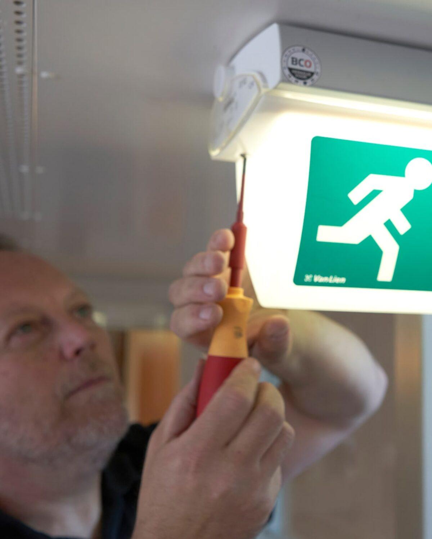Noodverlichting controle door BCO Oss